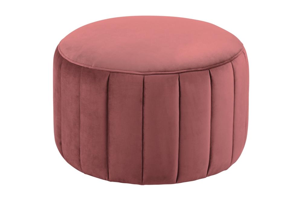Designová taburetka Naomika korálová