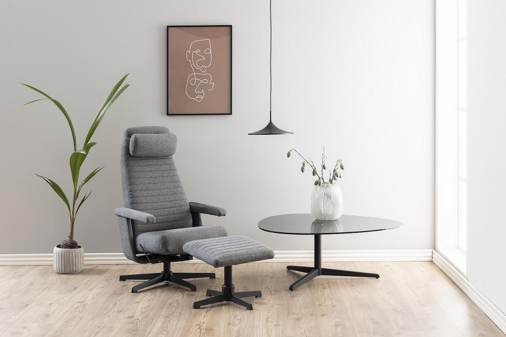 Designový konferenční stolek Ahab 103 cm kouřová - Skladem (RP)