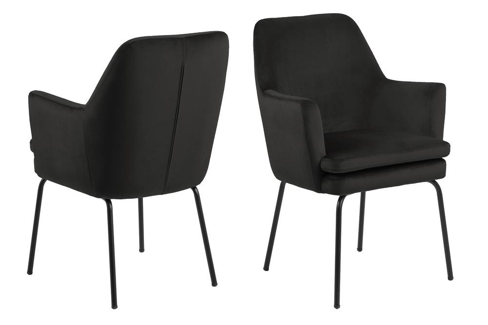 Elegantní jídelní židle Aleix šedá / hnědá