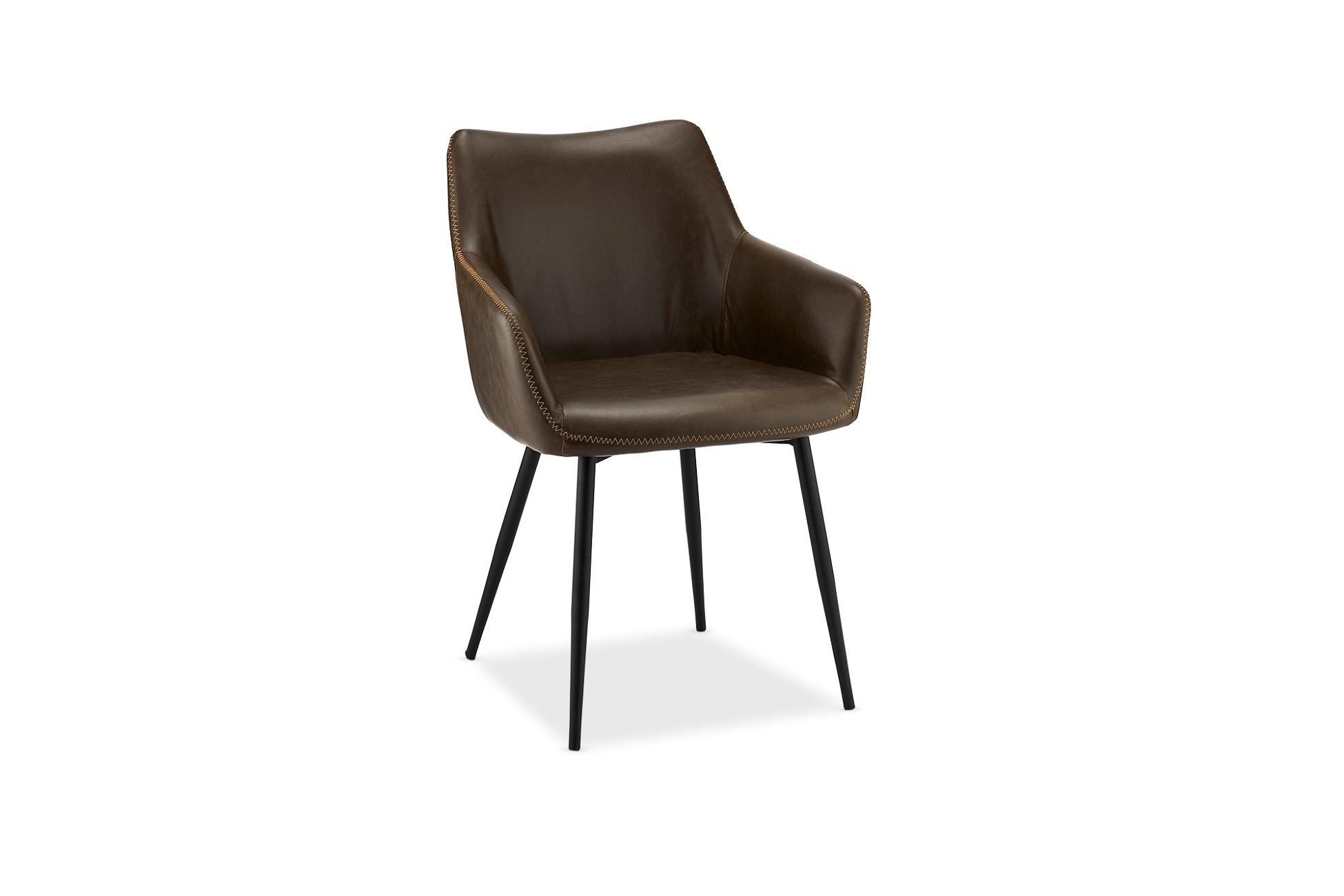 Elegantní židle Abacus, tmavohnědá - II. třída