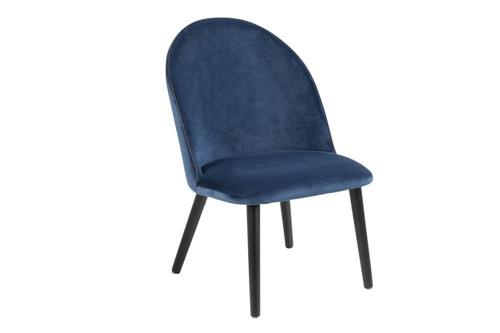 Elegantní židle Alexios tmavomodrá