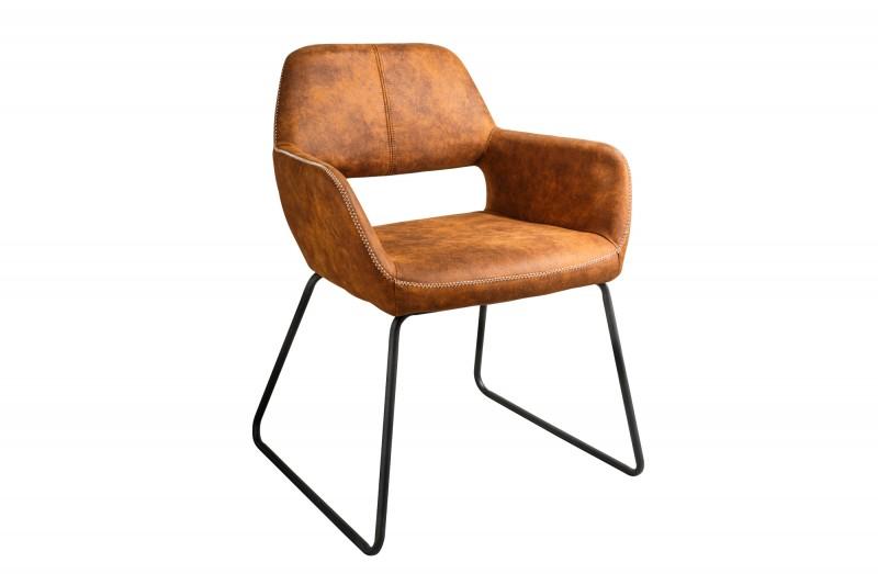 Designová židle Derrick hnědá Antik