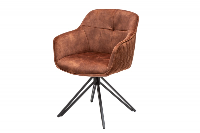 Designová židle Natasha hnědý samet