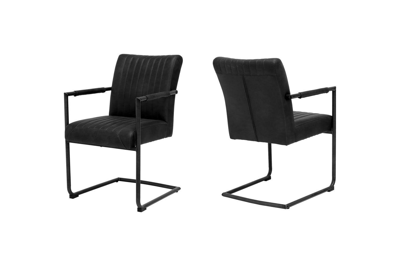 Designová židle Karla / černá - s opěrkami