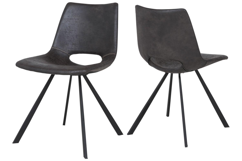 Designová židle Izabella / béžová-černá
