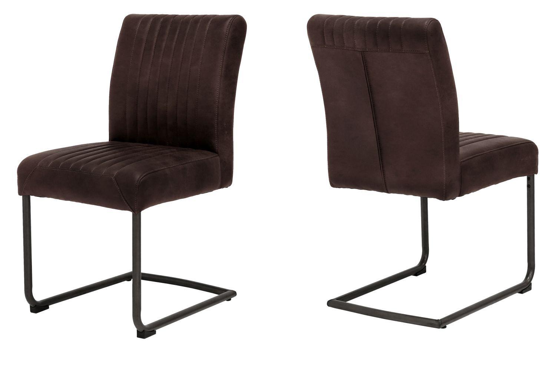 Designová židle Karla / hnědá
