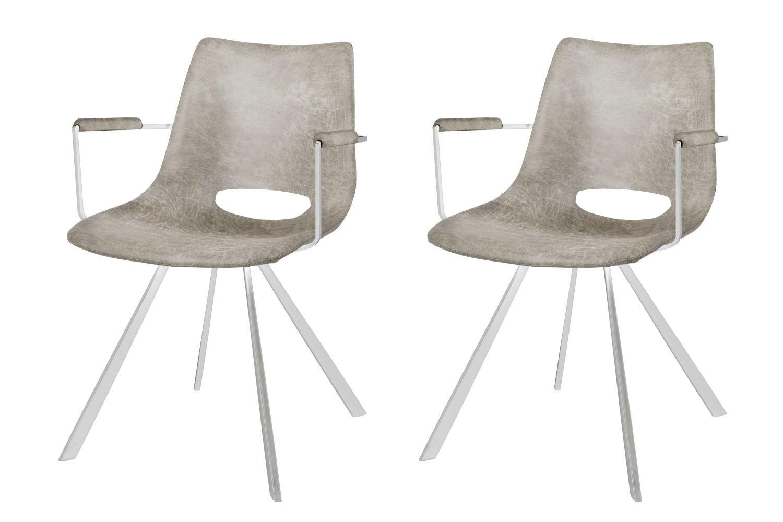 Designová židle Izabella s opěrkami / béžová