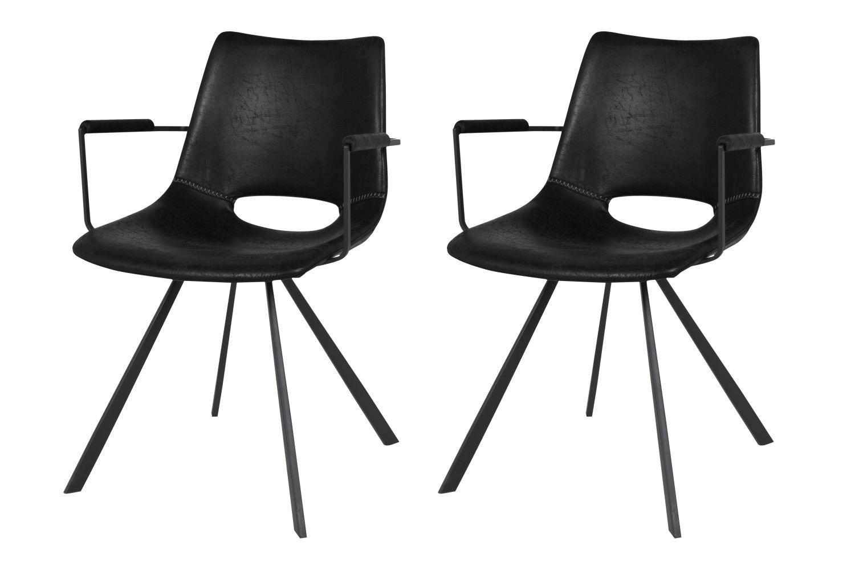 Designová židle Izabella s opěrkami / černá
