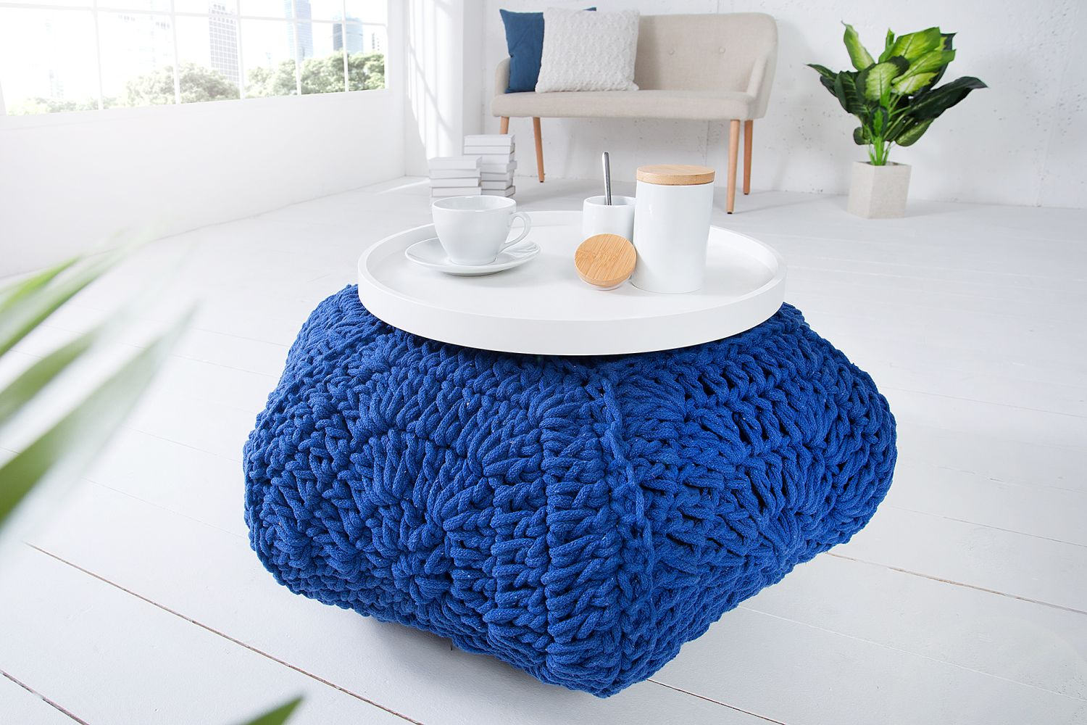 Designová taburetka Lilly II / tmavě modrá