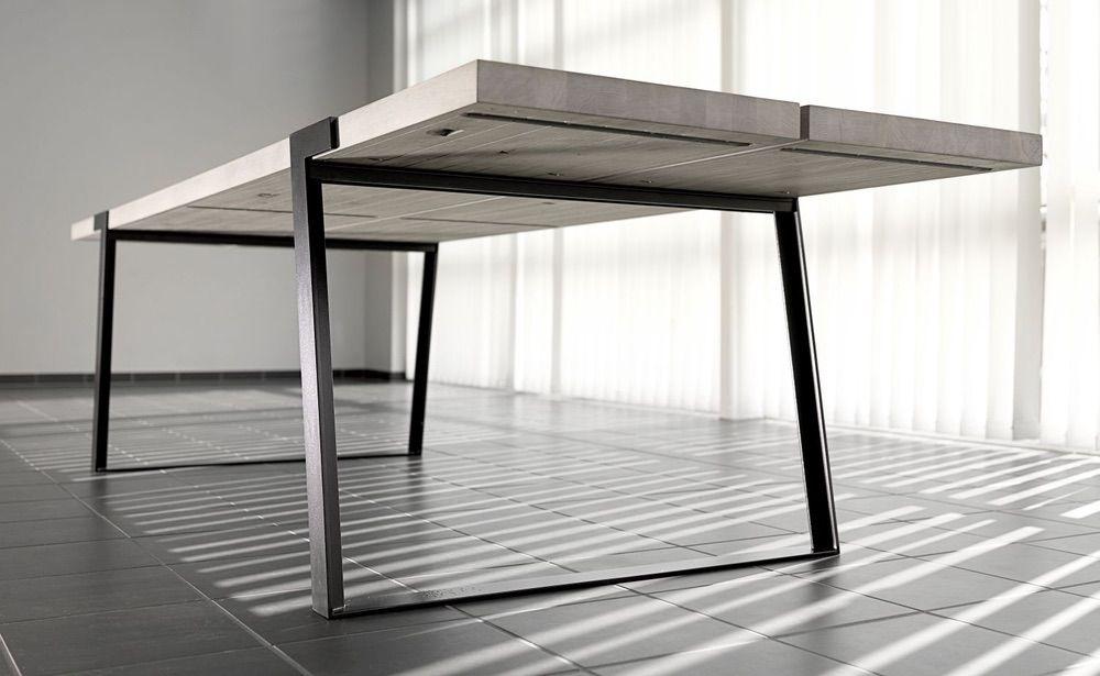 Jídelní stůl Annie 290 -410cm / bílá-černá
