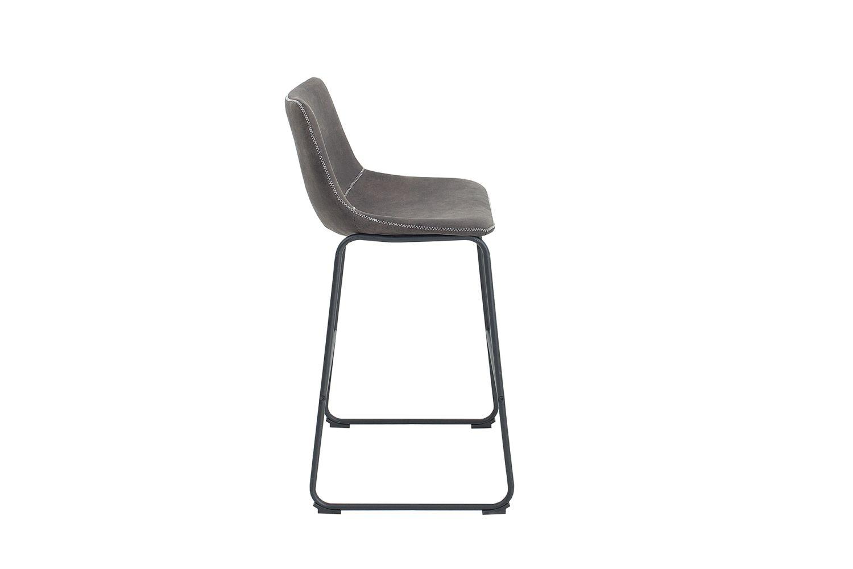 Designová barová židle Ester / vintage šedá