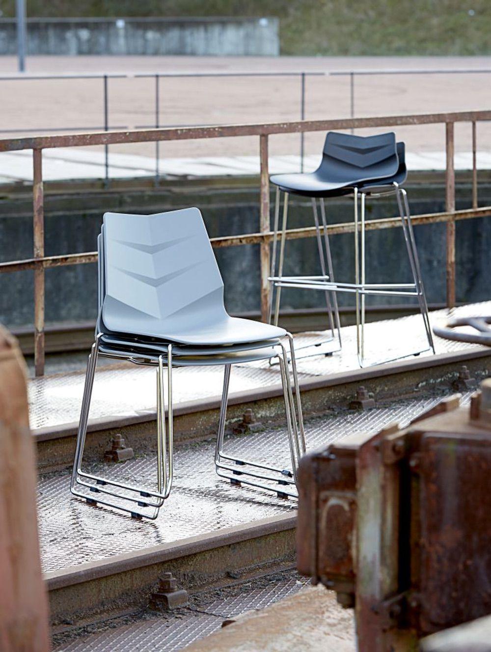 Designová židle Leona / šedá
