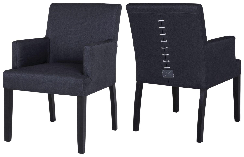 Jídelní židle Marta s područkami / černá