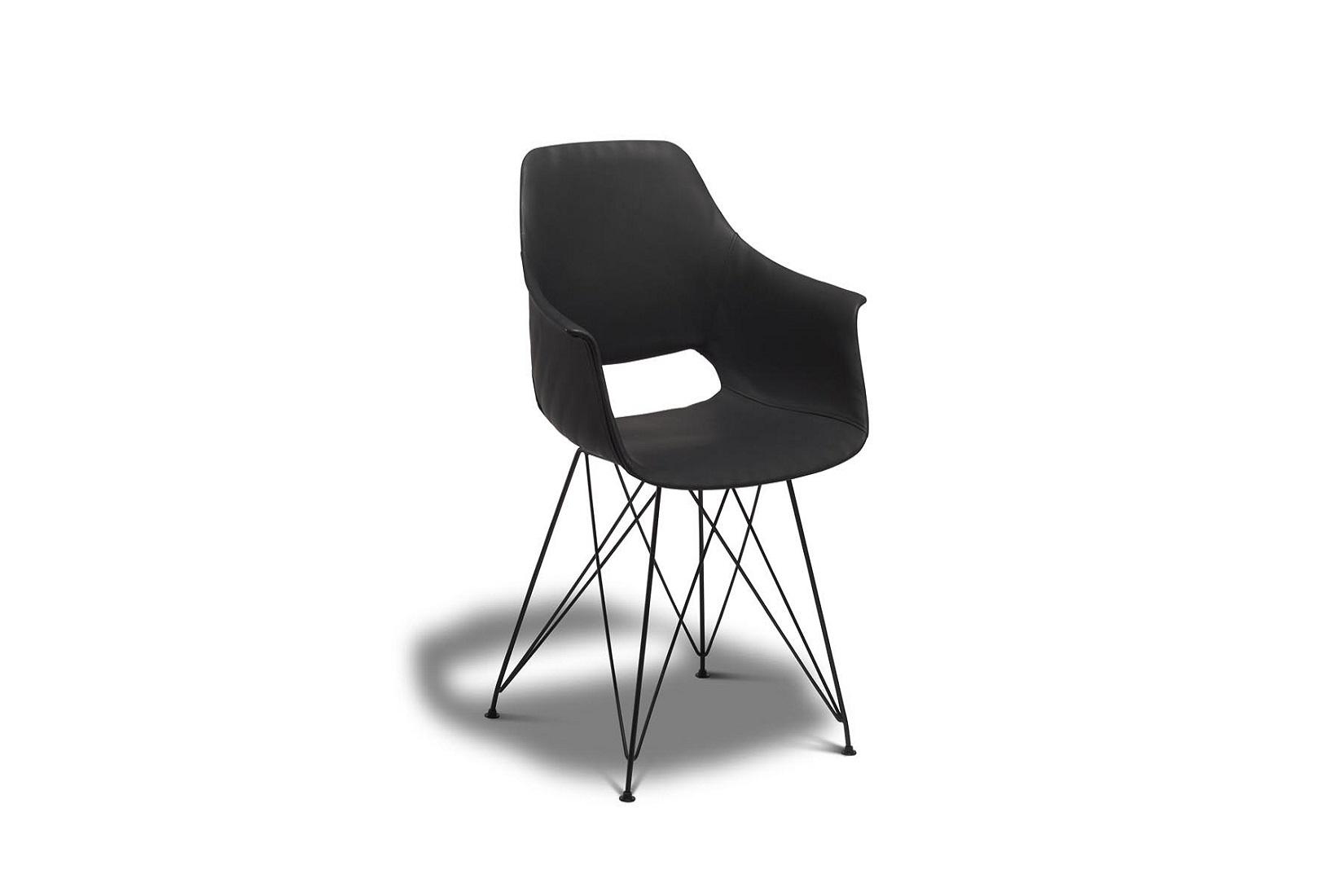 Jídelní židle Aban, černá