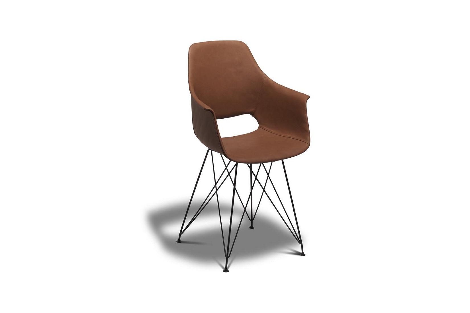 Jídelní židle Aban, světlehnědá