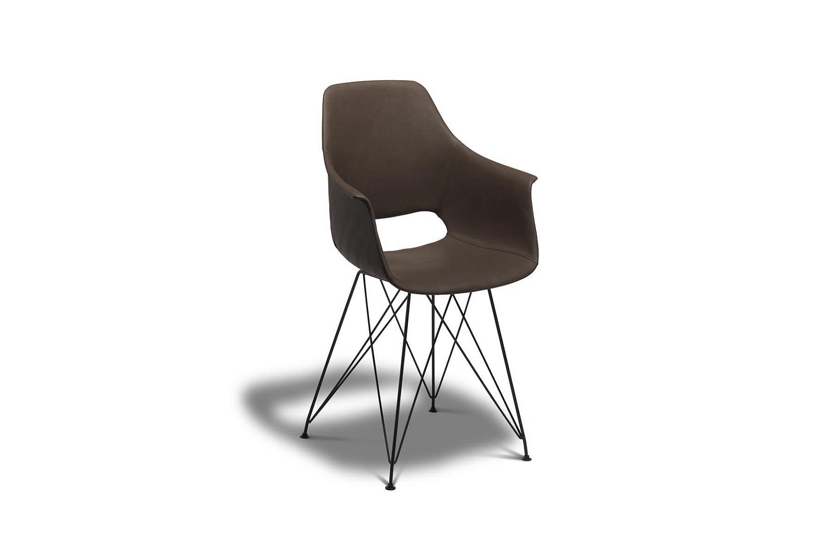 Jídelní židle Aban, tmavohnědá