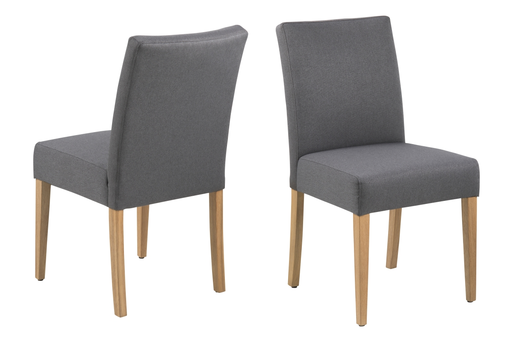 Jídelní židle Nashawna tmavě šedá