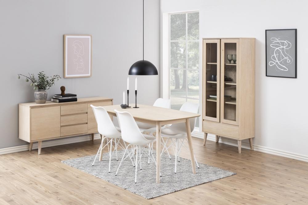 Jídelní stůl Naiara 150 cm dub bílý