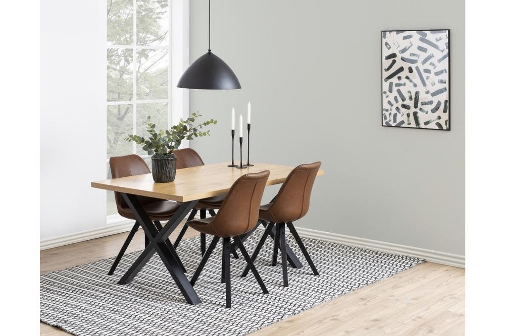 Jídelní stůl Niki 160 cm divoký dub X nohy