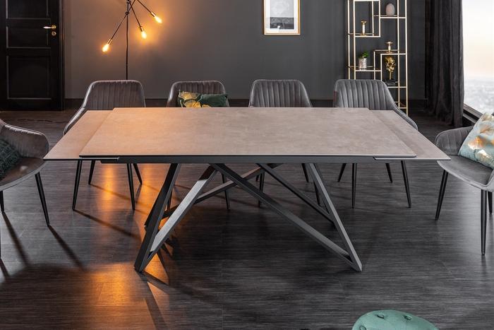 Jídelní stůl Callen 180-220-260 cm keramika beton