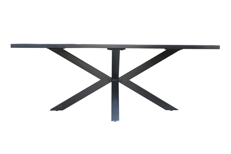 Jídelní stůl Shayla Galaxy 200 cm černý - II. třída (RP)