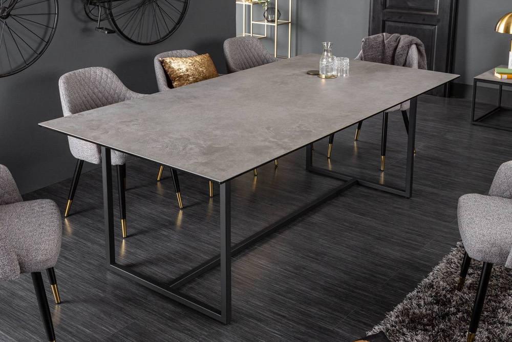 Keramický jídelní stůl Kody 200 cm betonový vzor