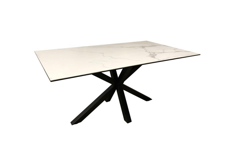 Keramický jídelní stůl Neele 200 cm bílý