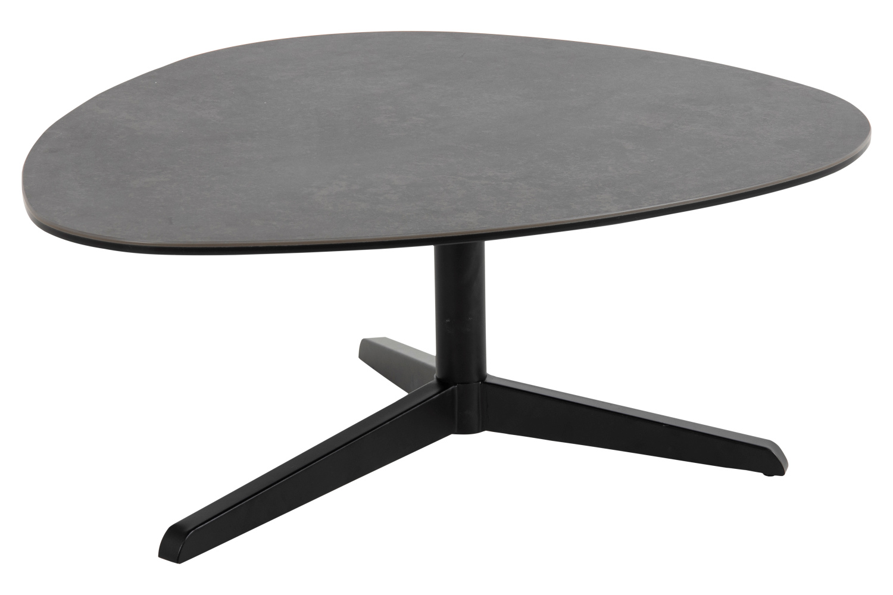 Keramický konferenční stolek Ahab 84 cm černý