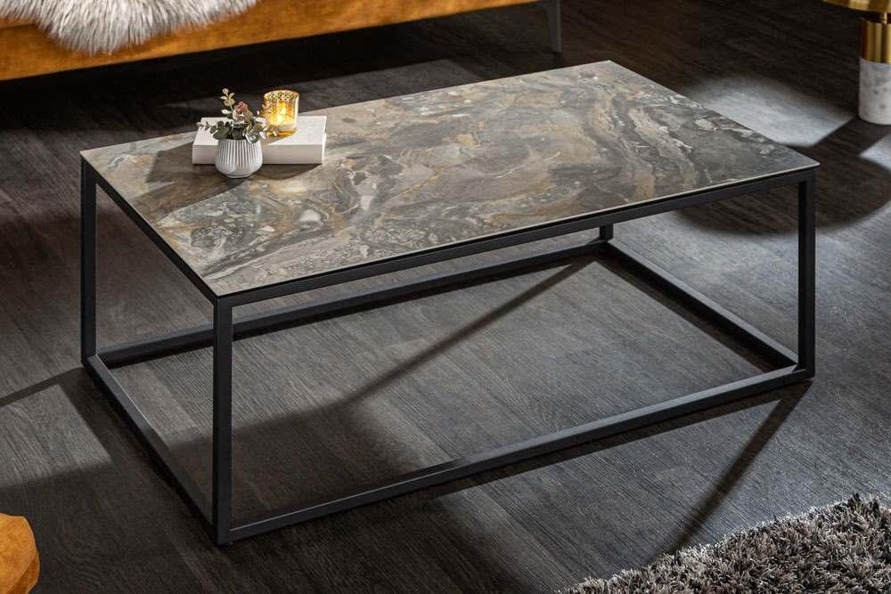 Keramický konferenční stolek Sloane 100 cm mramor