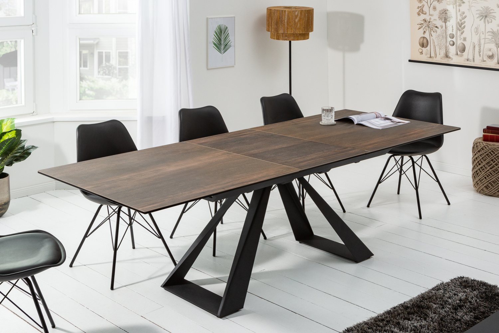 Keramický roztahovací stůl Kody 180-230 cm dubový vzor