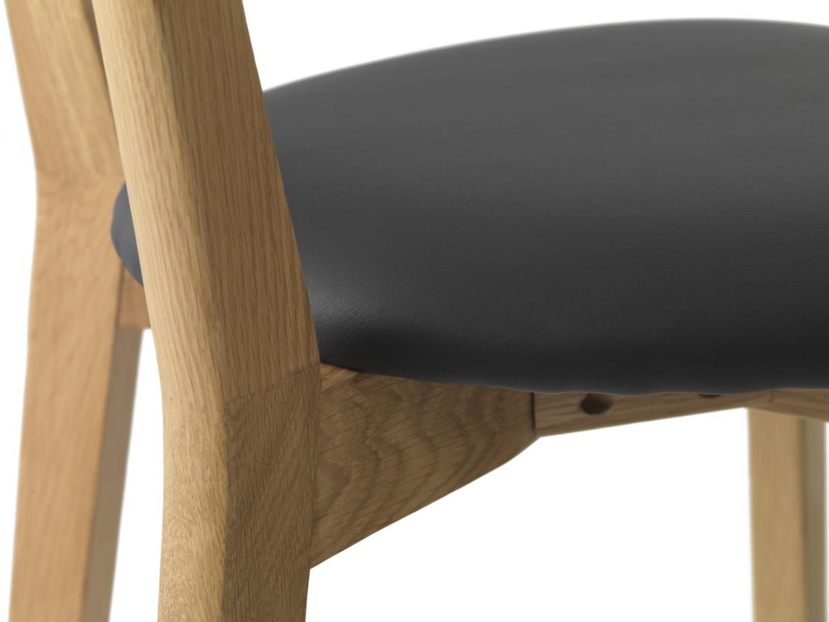 Designová židle Kian přírodní - černá