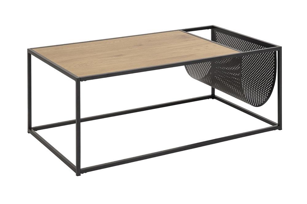 Konferenční stolek s držákem Akello imitace divoký dub