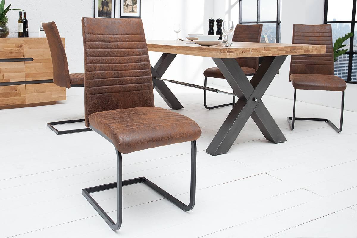 Konzolová židle Douglas antik hnědá - černá