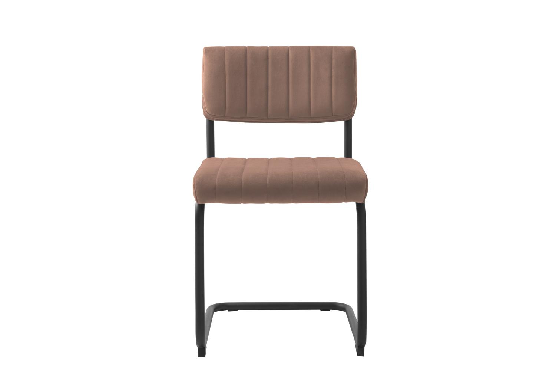 Konzolová židle Javon růžový samet