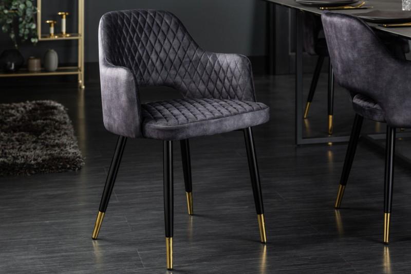 Designová židle Laney šedý samet