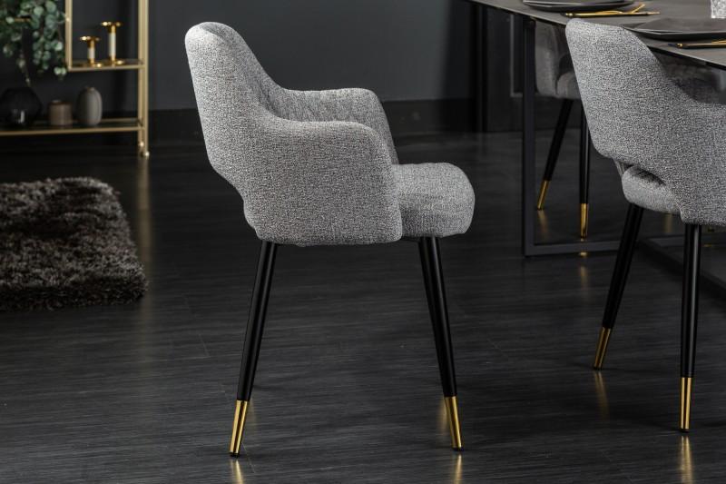Designová židle Laney světlešedá
