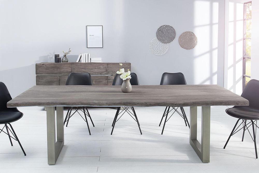 Luxusní jídelní stůl z masivu Massive 200 cm / akácie -sivá