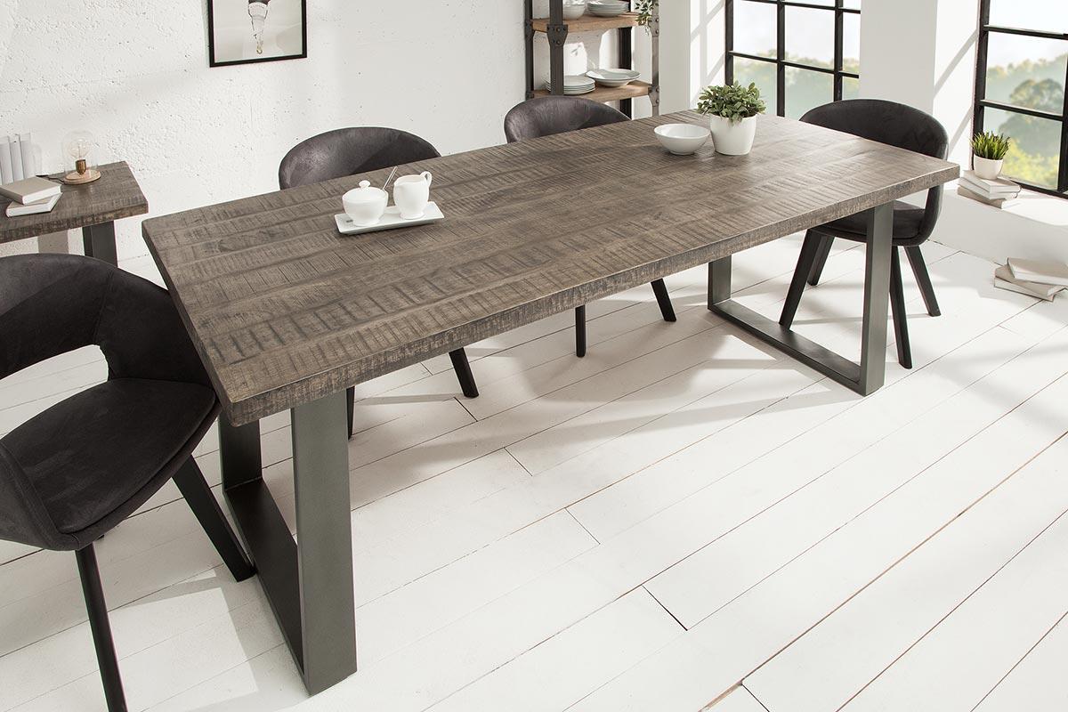 Jídelní stůl Thunder 180 cm šedé mango