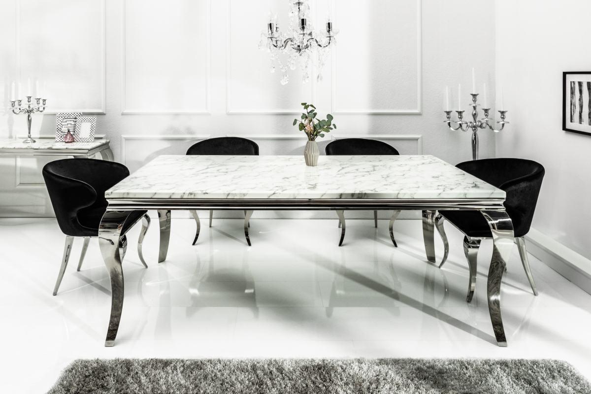 Designový jídelní stůl Rococo 180 cm mramor