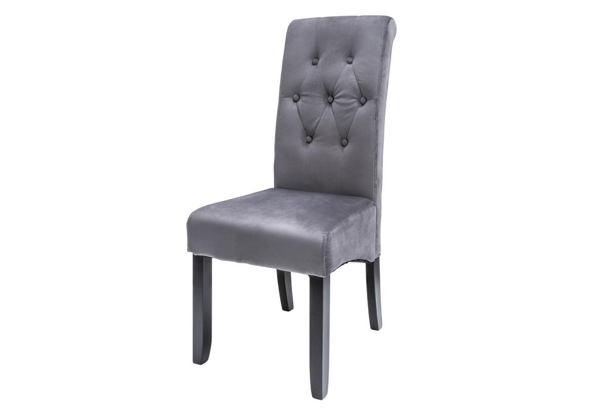 Designová židle Clemente s podhlavníkem šedá - II. třída