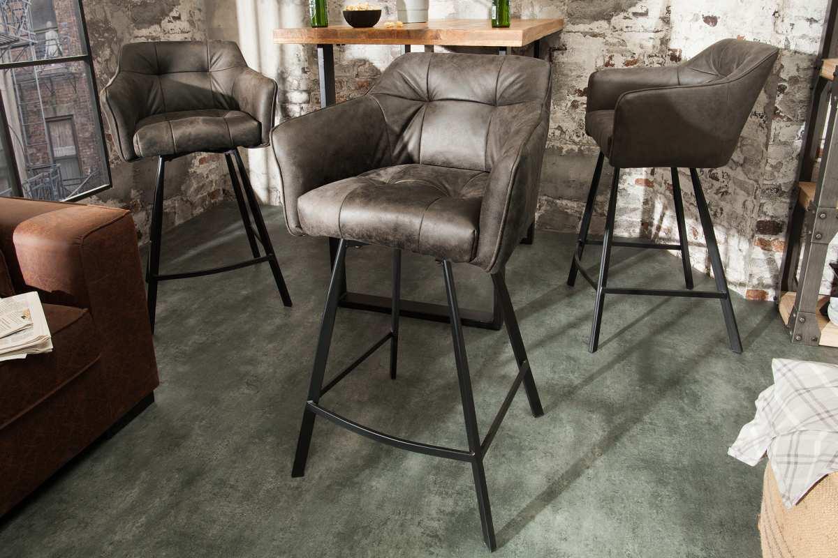 Designová barová židle Giuliana, taupe