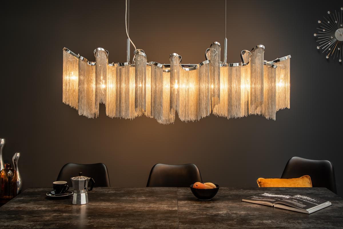 Designové závěsné svítidlo Anabelle, 118 cm, stříbrné