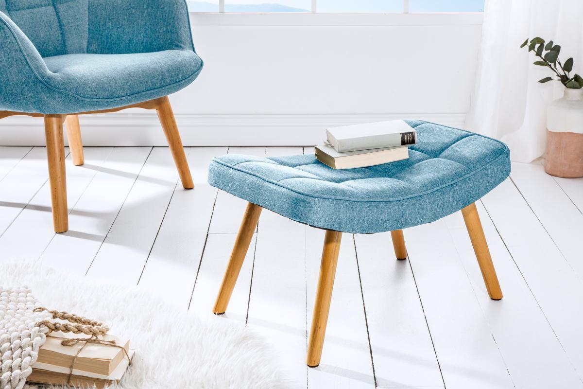 Designová podnožka Sweden, modrá