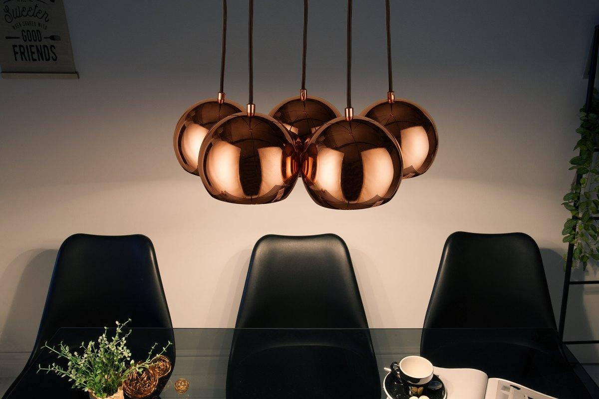 Designová závěsná lampa Briella, zlato-růžová - Skladem (RP)