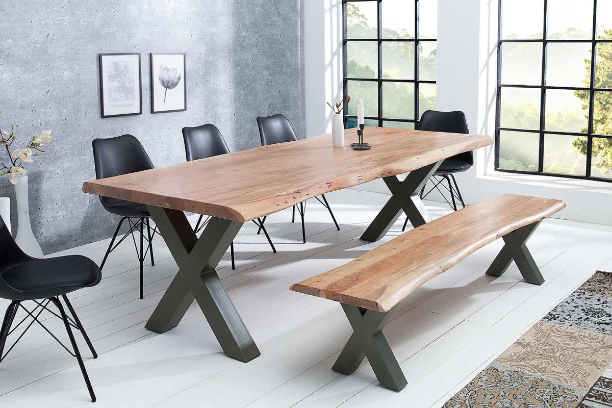 Designový jídelní stůl Massive X, 300 cm, akácie