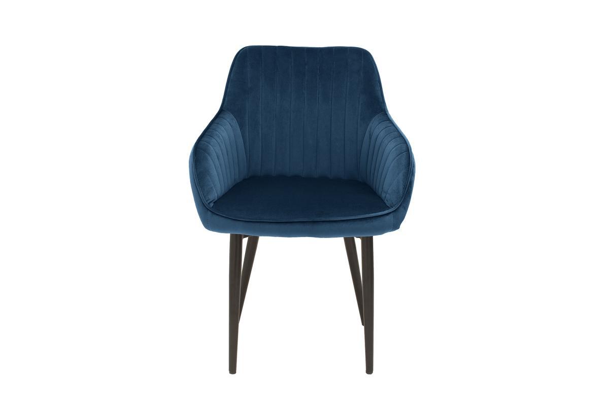 Designová židle Esmeralda, královská modrá - otevřené balení