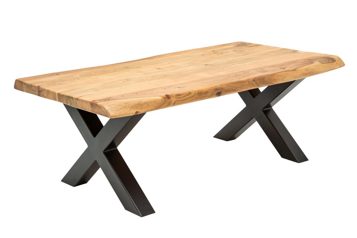 Designový konferenční stolek Massive X, 110 cm, akácie