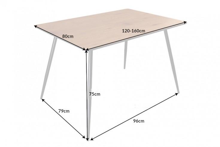 Roztahovací jídelní stůl Nathalie 120 - 160 cm dub