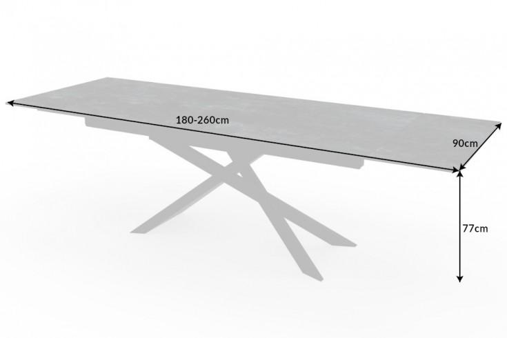 Roztahovací keramický stůl Natasha 180-220-260 cm láva