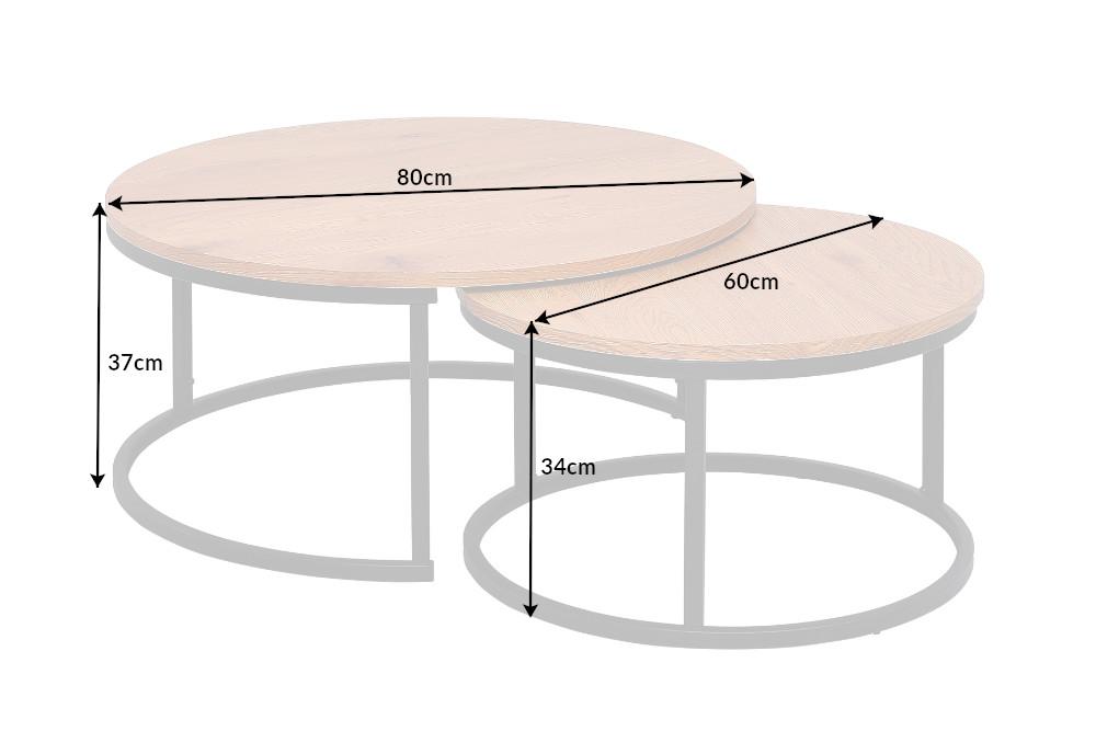 Set konferenčních stolků Kiana 2 ks vzor dub